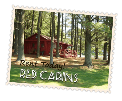 Red Cabins for Rent in Wisconsin Dells - Island Pointe Resort