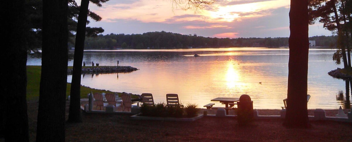 Sunset over Lake Delton